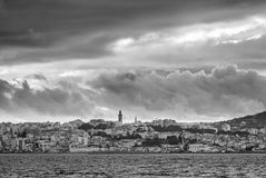 Stormy cloudy sky over Tangier city, Morocco Stock Photo