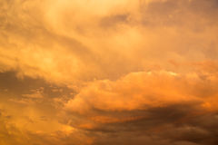 Stormy cloudy vibrantly colored sky Stock Images