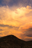 Stormy cloudy vibrantly colored sky over the Painted Hills Royalty Free Stock Photo