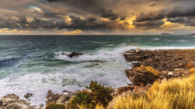 Stormy coastline in Sicily, Italy Royalty Free Stock Photo