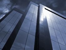 Stormy Corporate. Office Building and Storm Clouds Royalty Free Stock Photos