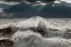 Stormy crashing wave Royalty Free Stock Photography