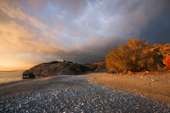 Stormy Crete, Greece. Stock Photos