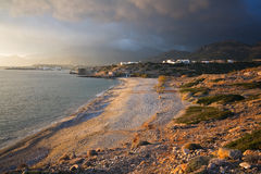 Stormy Crete, Greece. Royalty Free Stock Images