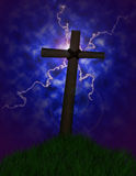 Stormy cross Stock Photos
