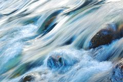 Stormy current of a mountain river. Stock Photography