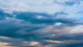 Stormy dark clouds moving stock footage