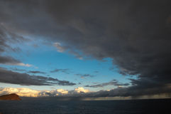 Stormy Dark Clouds. Over the Atlantic Ocean Water Stock Images