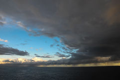 Stormy Dark Clouds. Over the Atlantic Ocean Water Stock Photography