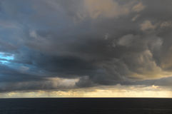 Stormy Dark Clouds. Over the Atlantic Ocean Water Royalty Free Stock Photography