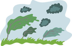 Stormy day background. Background of windy day, vector illustration Stock Image