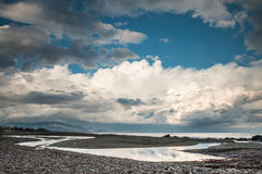 Stormy day on the beach Royalty Free Stock Images