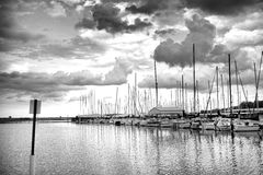 Stormy Day In Black & White Royalty Free Stock Photography