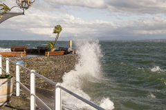 Stormy day at Bodensee Stock Photography
