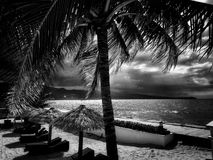 Stormy Day on a Caribbean Beach Stock Image