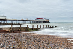 Stormy Day at Cromer Pier Royalty Free Stock Photography