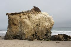 El Matador State Beach Malibu, California. A stormy day at  El Matador State Beach in Malibu California USA Stock Image