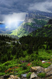 Stormy Day at Glacier National Park Stock Photography