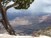Stormy day in the Grand Canyon Royalty Free Stock Photo