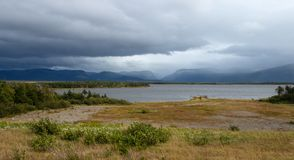 Stormy day near Rocky Harbour royalty free stock photography