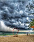 stormy day but always wonderful view at the beach royalty free stock photo