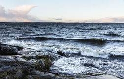 Free Stormy Day Next To Lake In December In Finland Stock Photo - 64222910