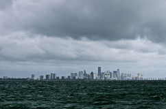 Stormy day over Miami Stock Image