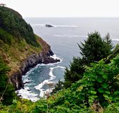 Stormy day in the Pacific NW. Stormy day on the coast of Oregon Stock Photography