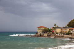 Stormy day in Side Turkey Royalty Free Stock Images