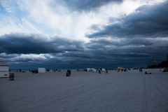 Stormy day in South Beach Miami, Florida.  stock image