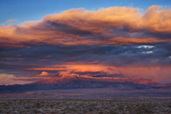 Stormy Desert Sunset Stock Photography