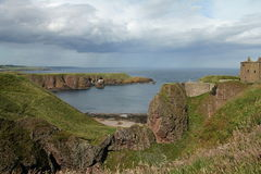 Stormy Dunnottar Castle Scotland Royalty Free Stock Images