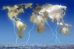 Stormy Earth stock illustration