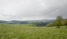 Stormy Eifel scenery Stock Images