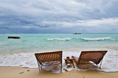 Stormy Empty Beach Stock Photos