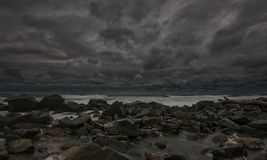 Stormy evening at Chernomorets, Bulgaria. Royalty Free Stock Photography