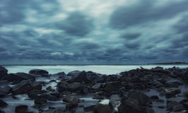 Stormy evening at Chernomorets, Bulgaria. Stock Photography