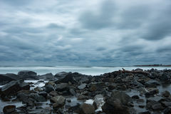 Stormy evening at Chernomorets, Bulgaria. Royalty Free Stock Image