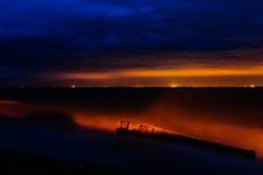 Stormy Evening Seaside Royalty Free Stock Photos