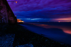 Stormy Evening Seaside Stock Photography