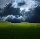Stormy Field Stock Photo