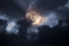 Stormy full moon night Stock Photos
