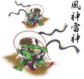 Stormy god and god of thunder. It is God appearing in the Japanese myth Stock Image