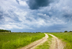 Stormy grassland Royalty Free Stock Photos