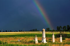 Stormy Graveyard Stock Photography