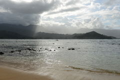 Stormy Hanalei Bay Stock Photos