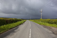 Stormy highway Royalty Free Stock Image