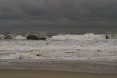 Stormy Jetty Stock Photo