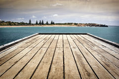 Stormy Jetty Royalty Free Stock Image