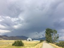 Stormy Kamloops weather Royalty Free Stock Photos